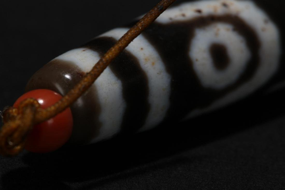 A Tibetan Red-dotted Estate Bead - 4
