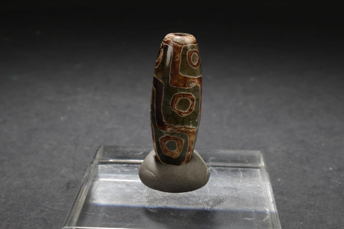 An Estate Tibetan Bead Display - 2