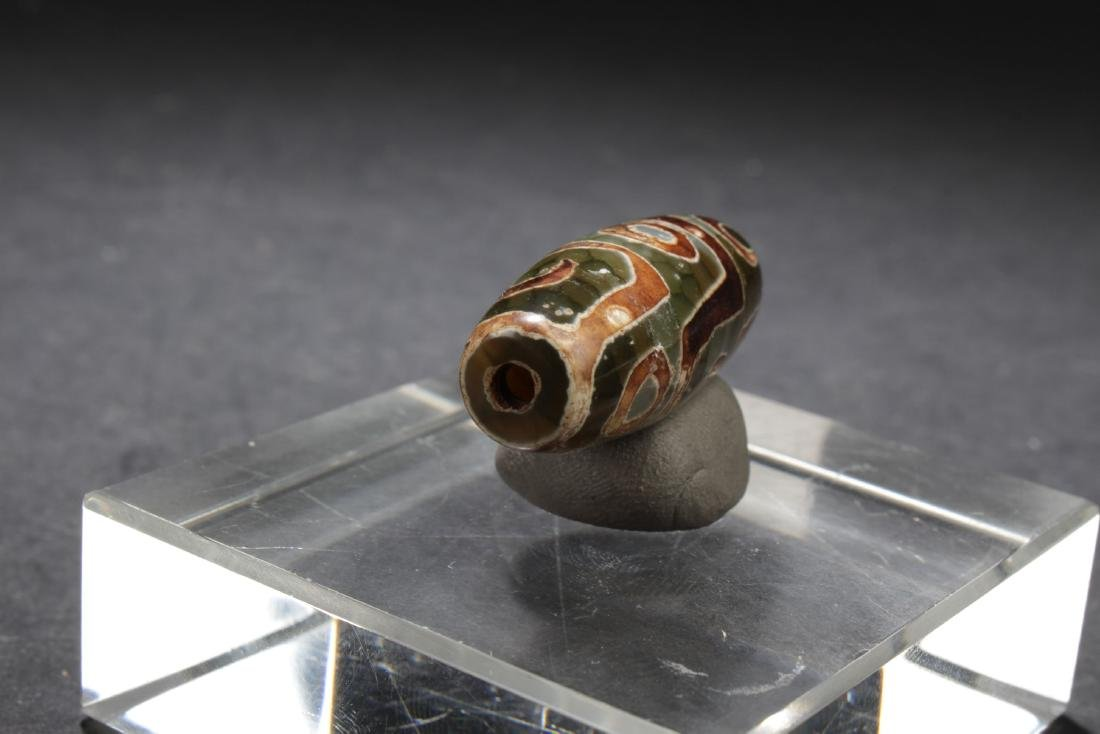 An Estate Tibetan Bead Display - 5