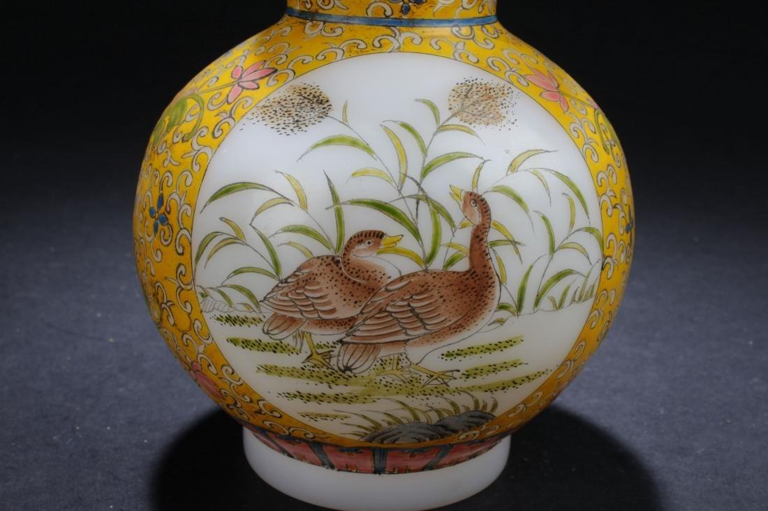 An Estate Chinese Windowed Calabash-shape Overlay Vase - 4
