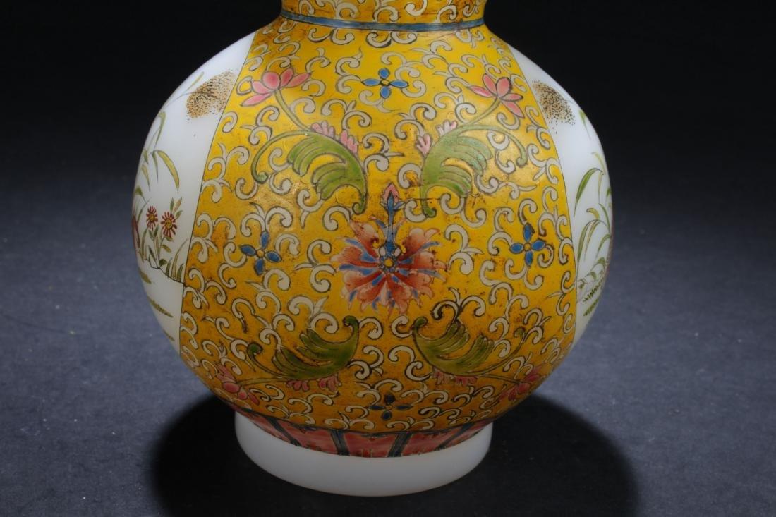An Estate Chinese Windowed Calabash-shape Overlay Vase - 5