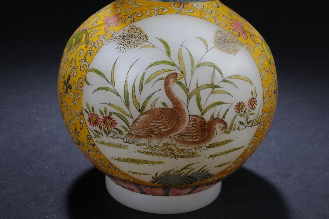 An Estate Chinese Windowed Calabash-shape Overlay Vase - 6