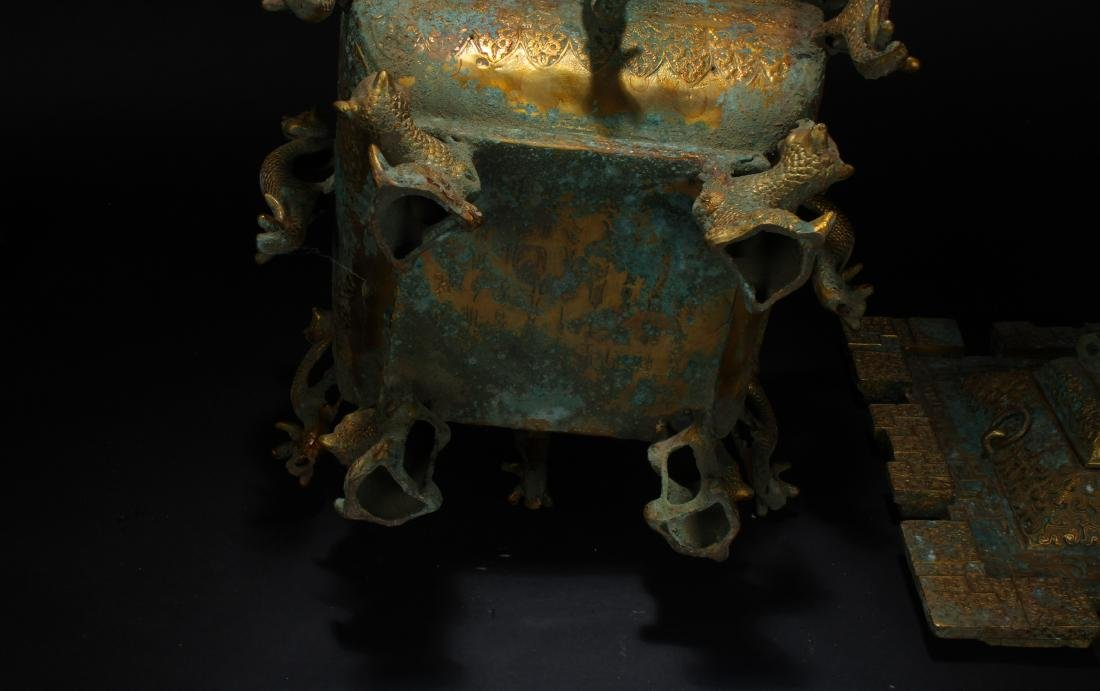 An Estate Chinese Bronze Vessel Anicent-framing - 6