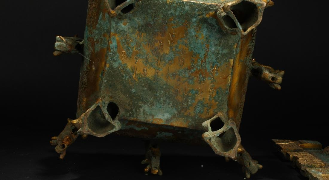 An Estate Chinese Bronze Vessel Anicent-framing - 7