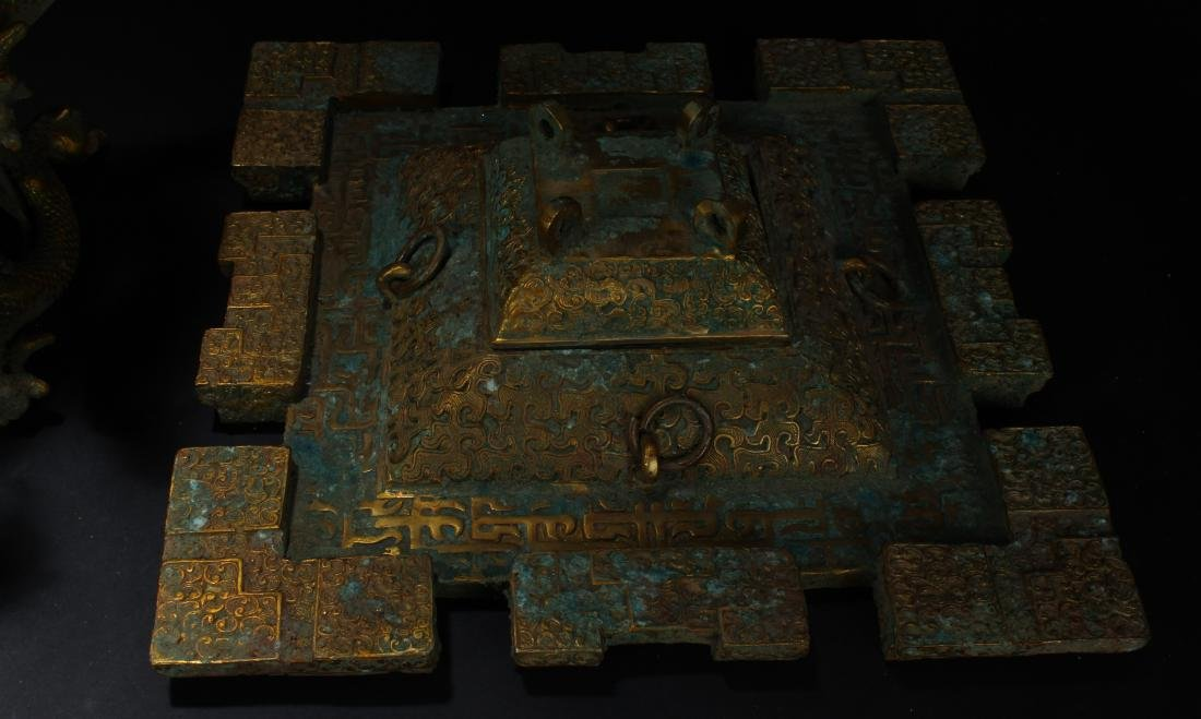 An Estate Chinese Bronze Vessel Anicent-framing - 8