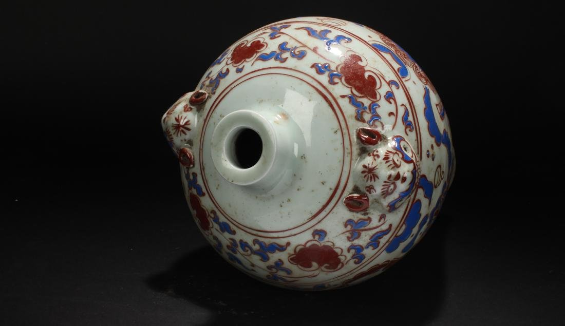 A Chinese Myth-beast Fortune Estate Porcelain Vase - 4