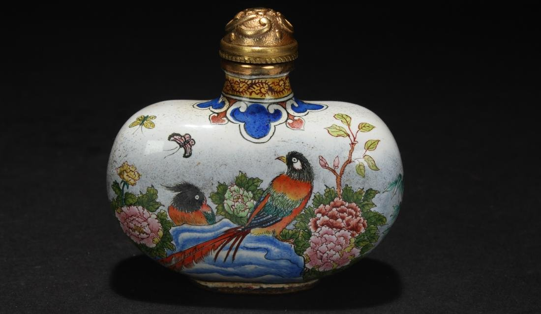 An Estate Chinese Spring-fortune Snuff Bottle Display