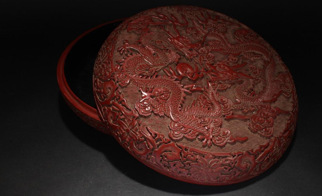 A Chinese Dragon-decorating Estate Lacquer Box