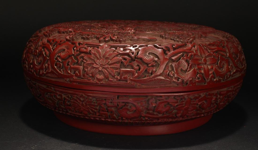 A Chinese Dragon-decorating Estate Lacquer Box - 2