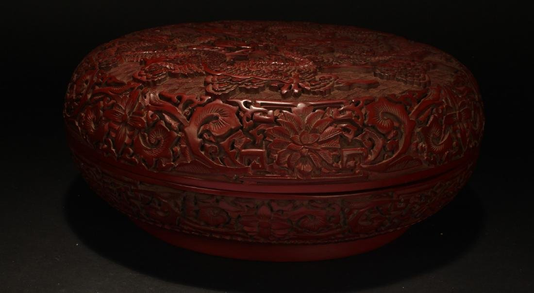 A Chinese Dragon-decorating Estate Lacquer Box - 9