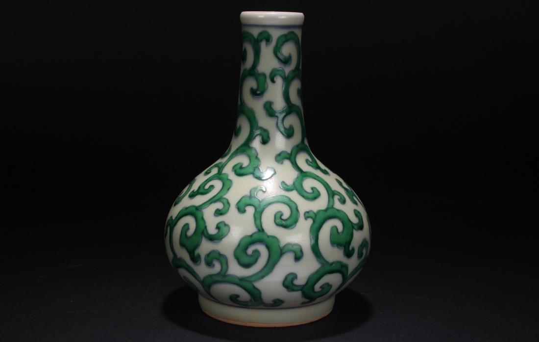 A Chinese Long-life Symbol Porcelain Vase