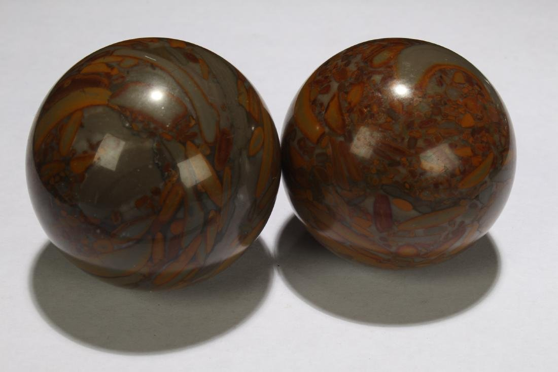 Two Chinese Estate Fortune Ball Figures