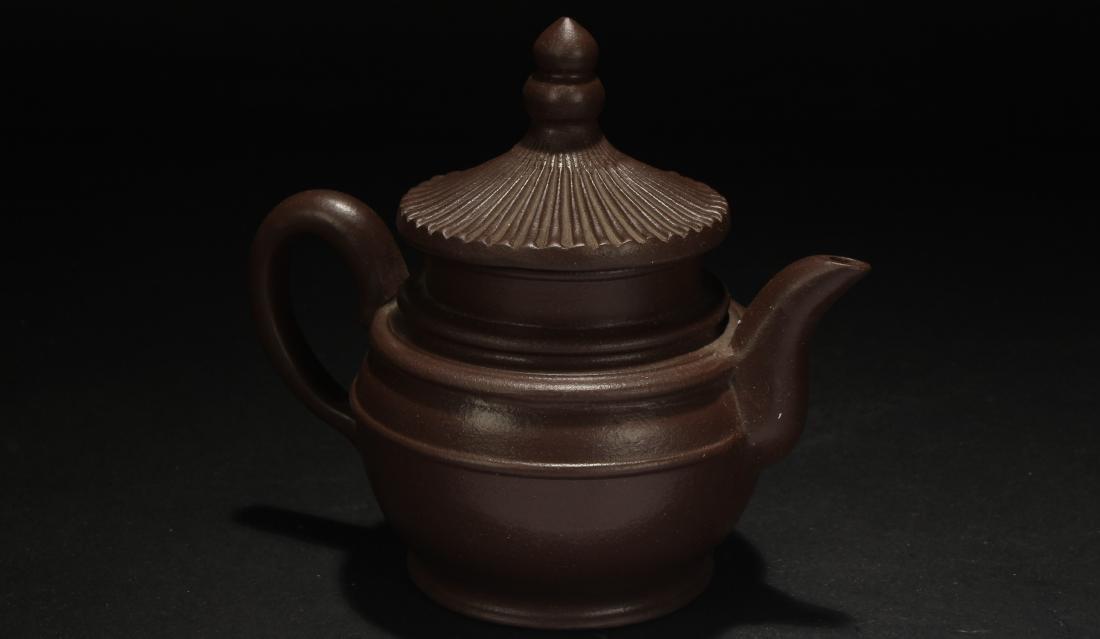 A Chinese Censer-fortune Estate Tea Pot - 3