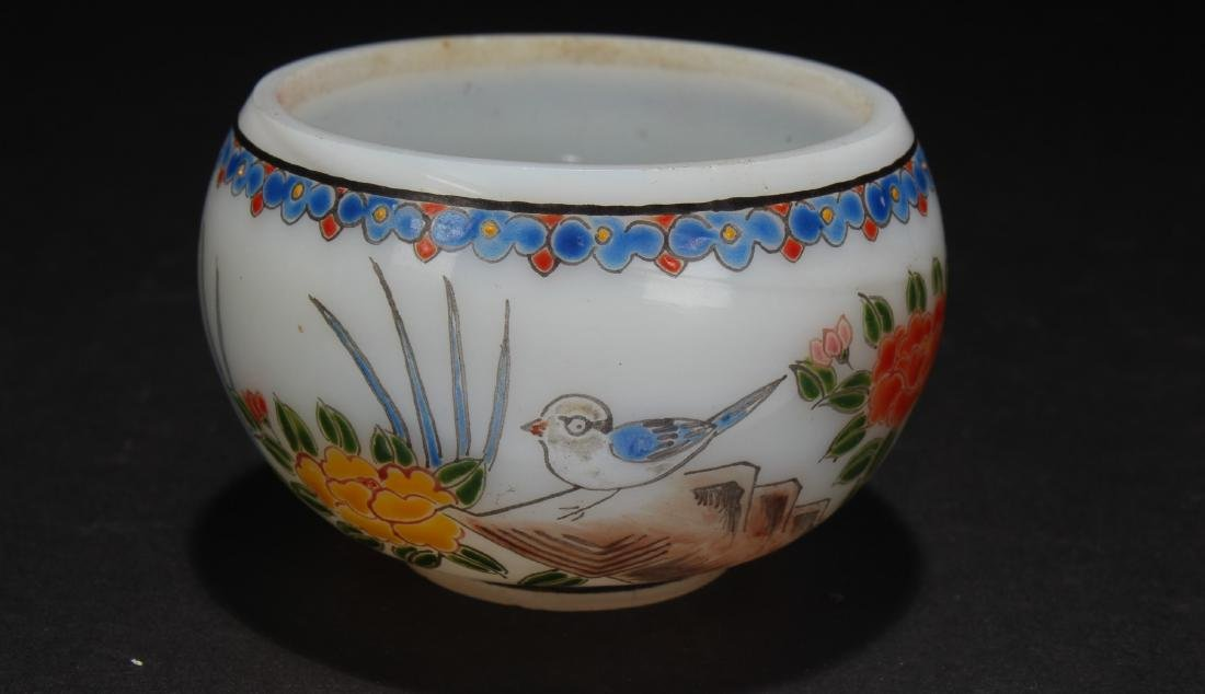 An Overlay Chinese Nature-screen Cup