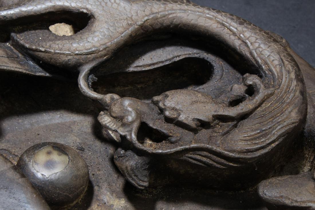 An Estate Dragon-decorating Chinese Inkpad Display - 6