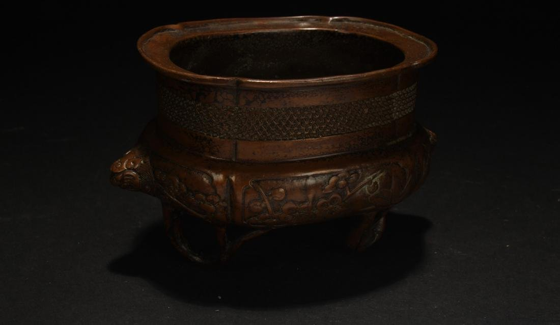 A Chinese Fengshui Censer Display