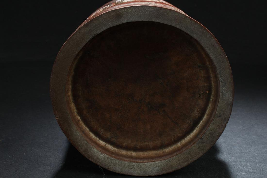 A Chinese Estate Bamboo-fortune Brush Pot Display - 7