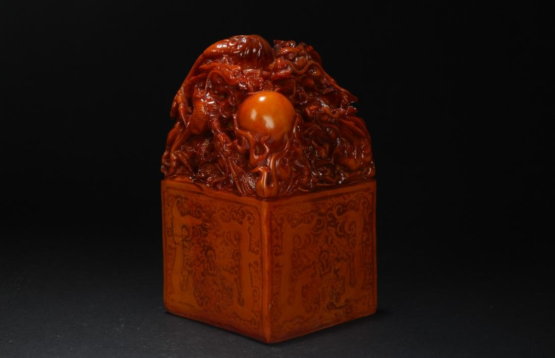 A Chinese Myth-beast Estate Fortune Seal