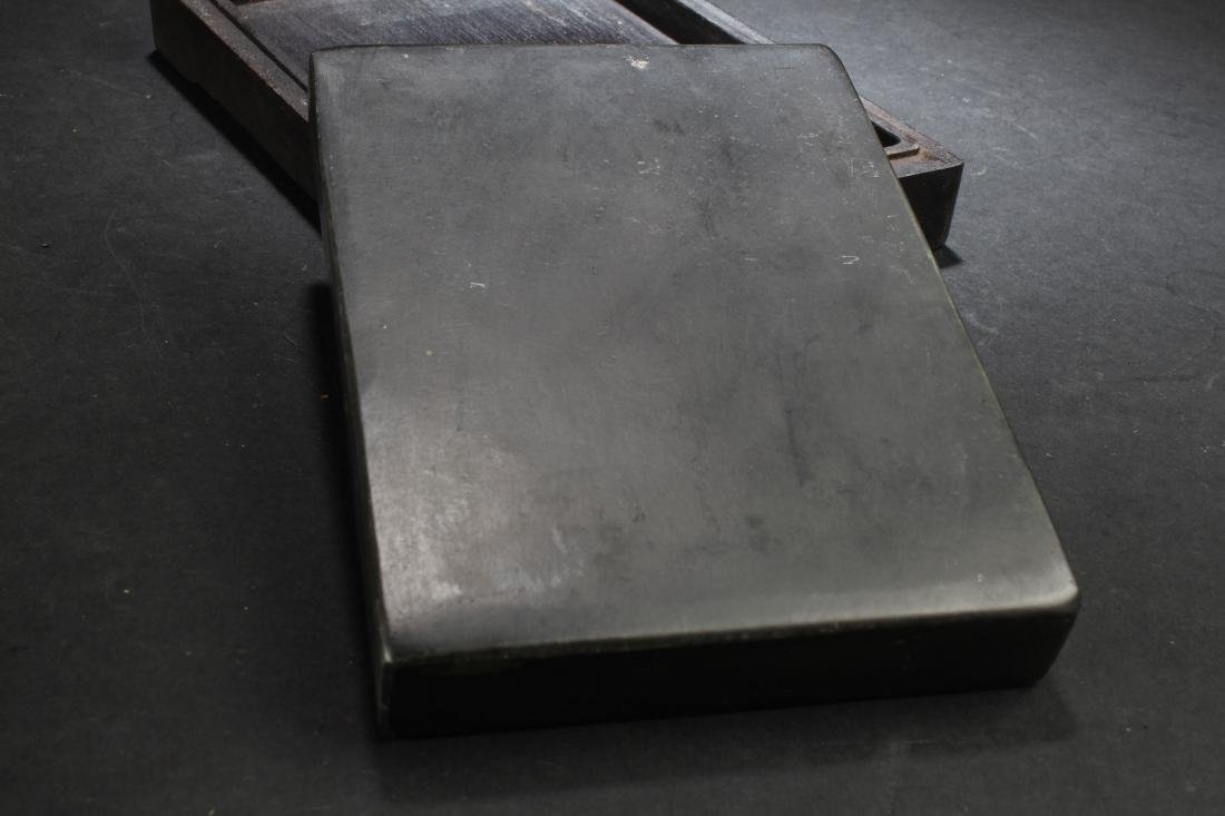 An Estate Chinese Lidded Inkstone Box Display - 7