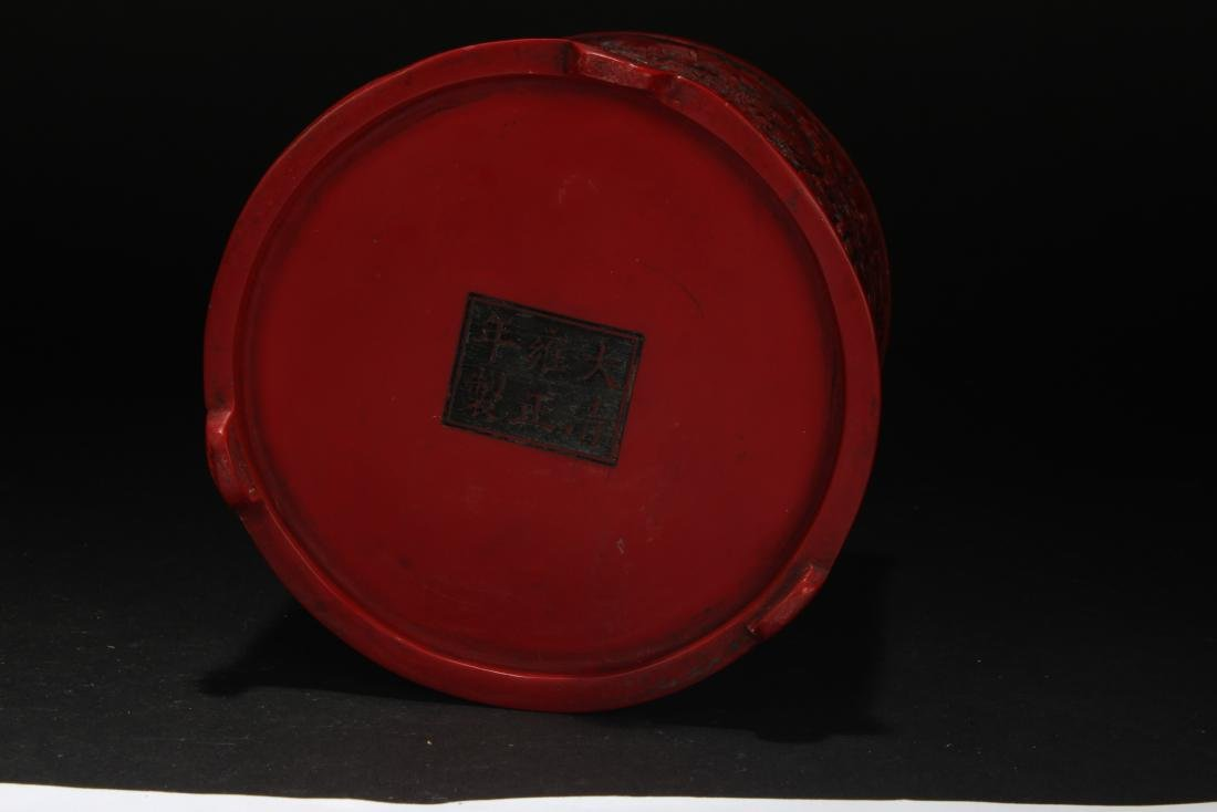An Estate Chinese Temple-sceen Brush Pot - 5