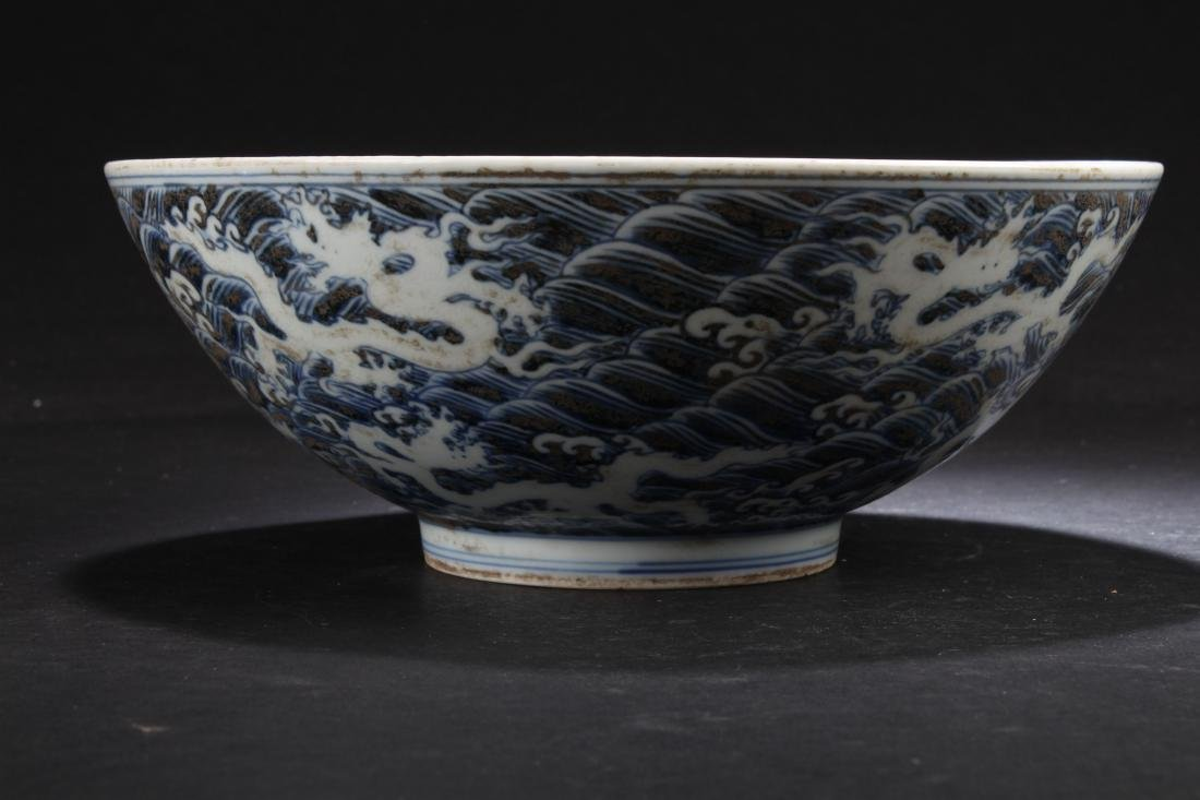 An Aqua-fortune Chinese Estate Blue and White Porcelain