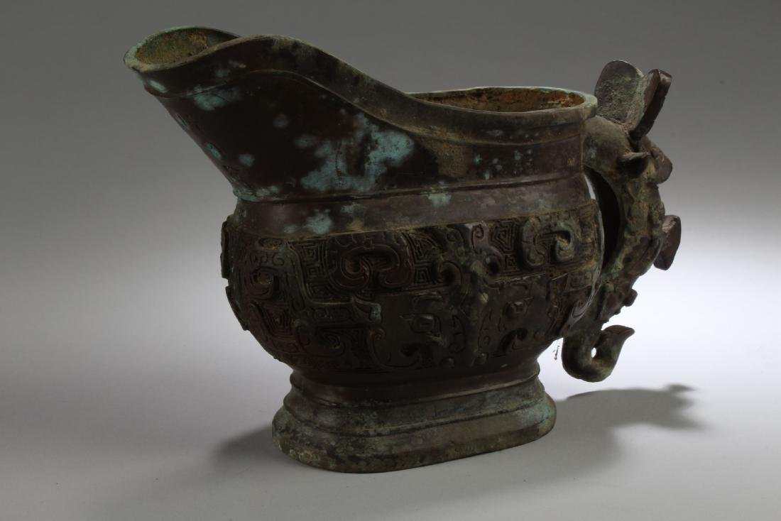 A Chinese Fortune Anicent-framing Bronze-Vessel Display