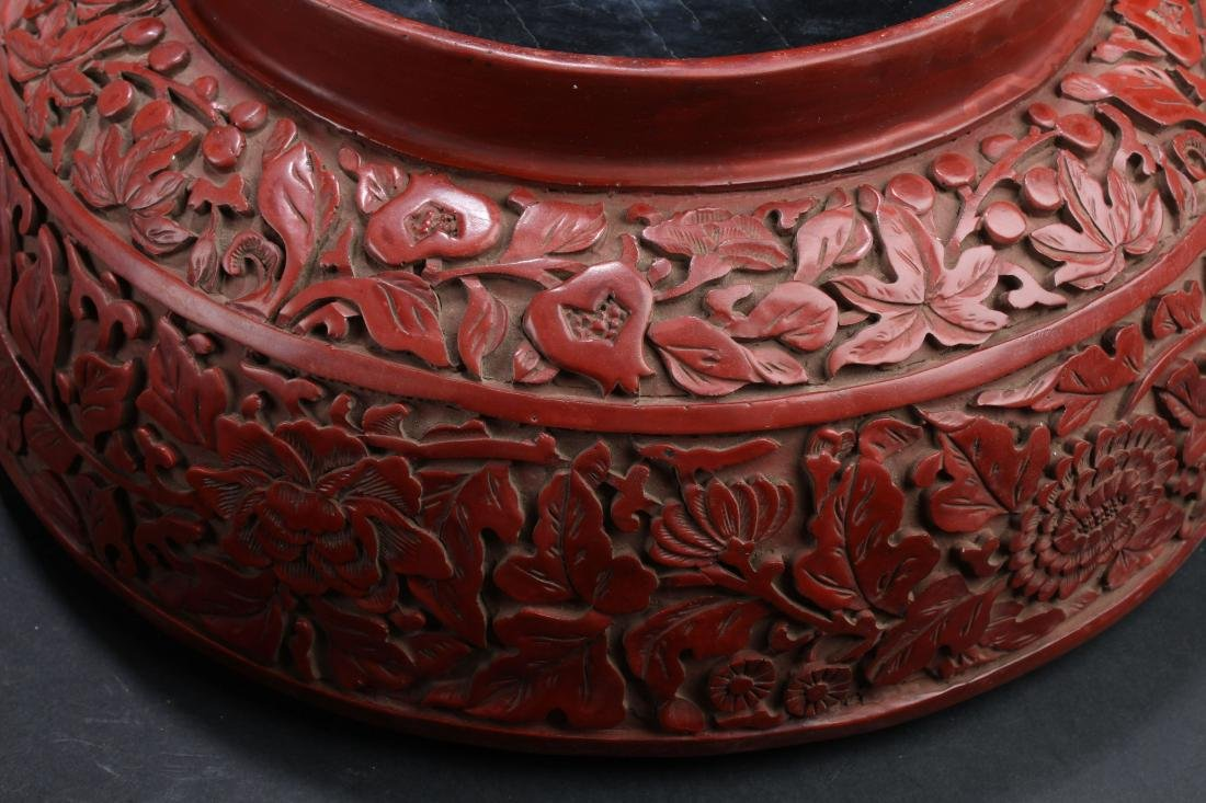 A Massive Estate Lidded Blossom Lacquer Box - 8