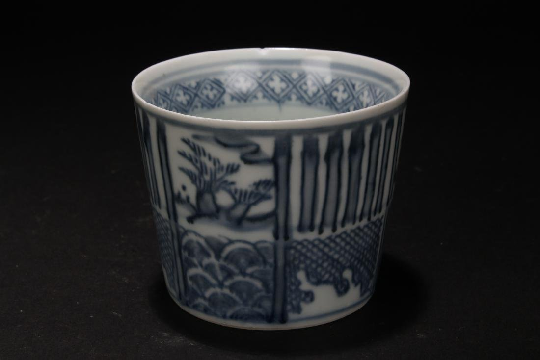 An Estate Chinese Blue and White Porcelain Cup