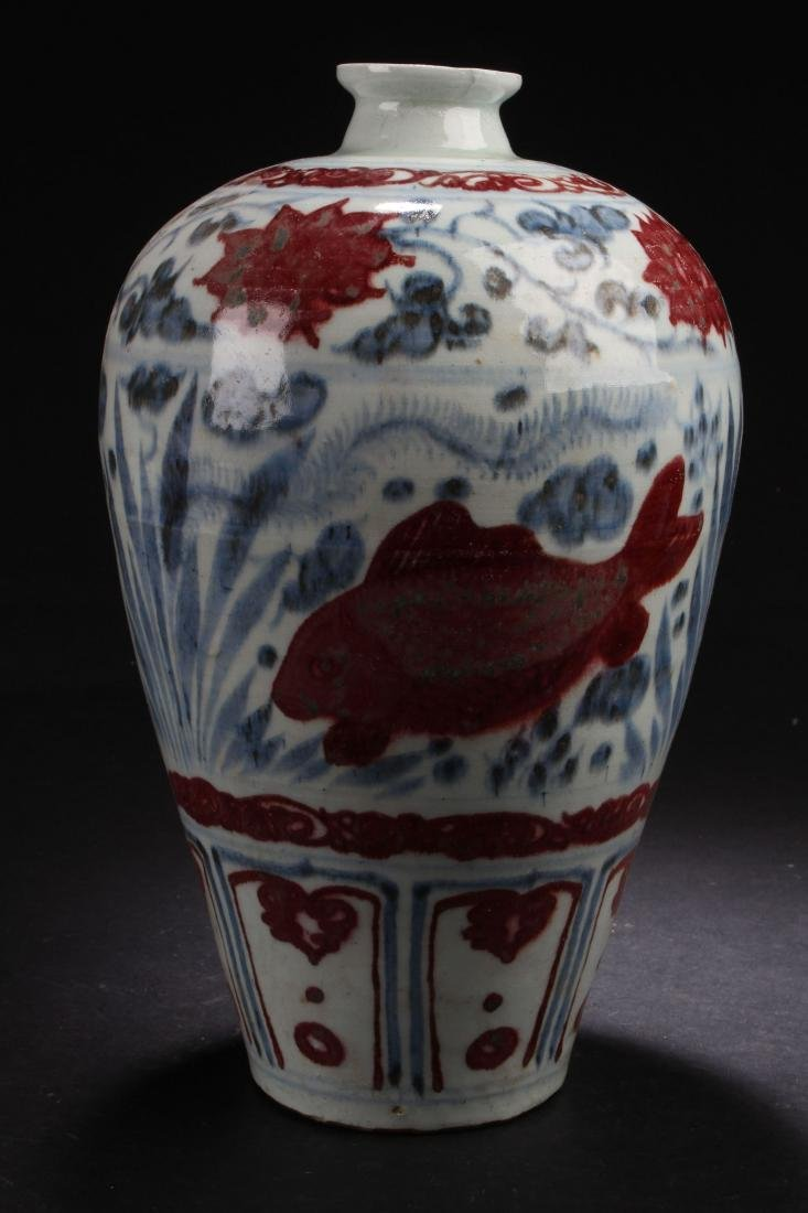 An Estate Chinese Aqua-sceen Porcelain Vase Display