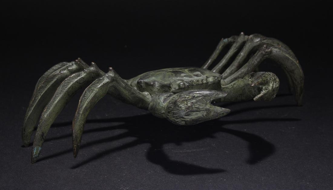 A Chinese Crab-fortune Estate Figure