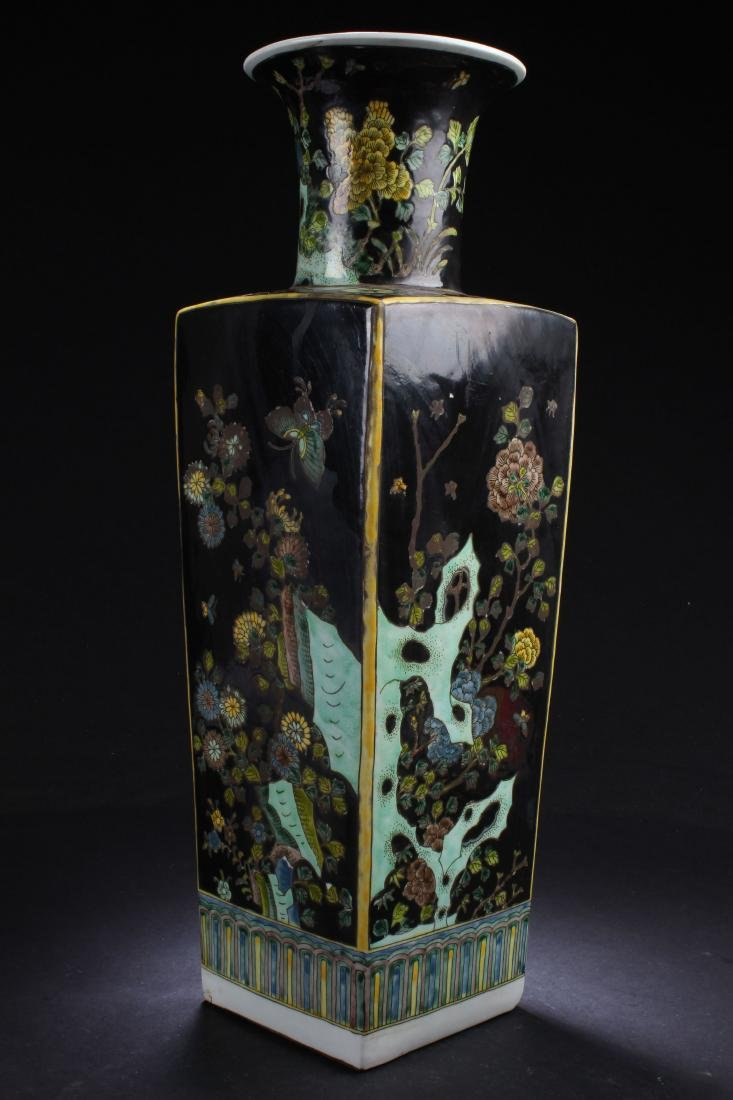 A Chinese Estate Nature-sceen Square-based Porcelain