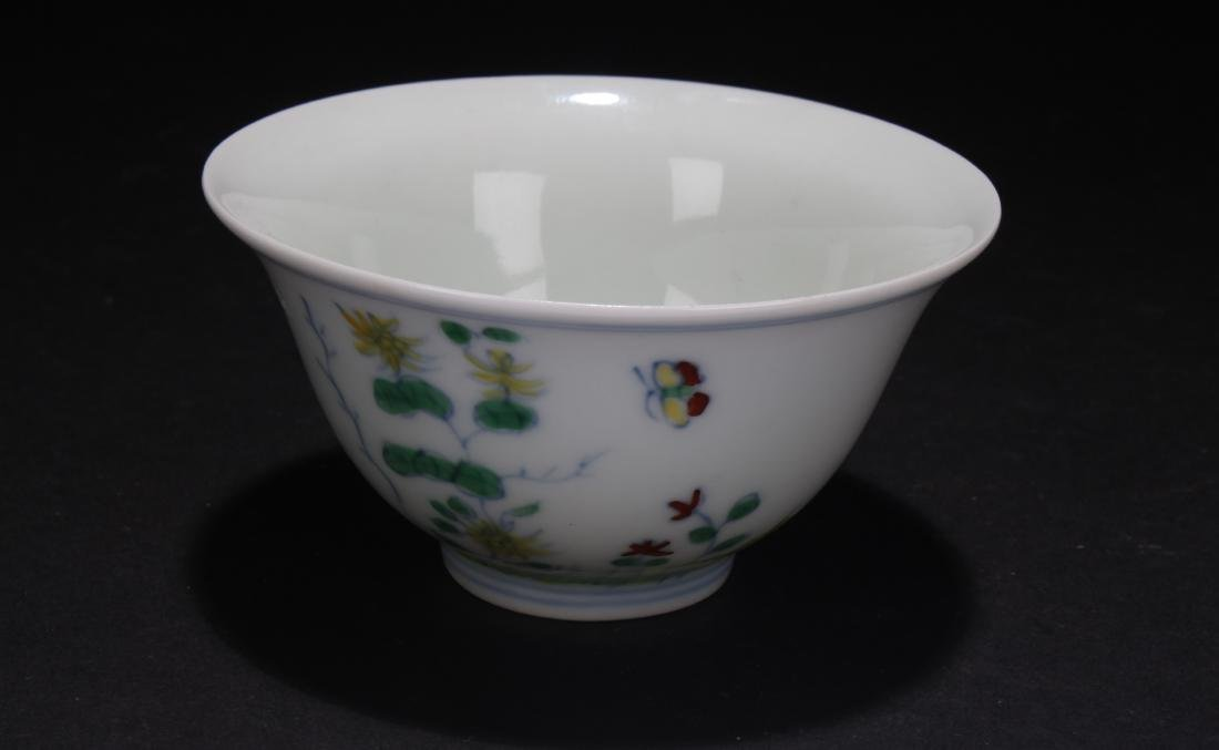 A Chinese Nature-sceen Porcelain Cup