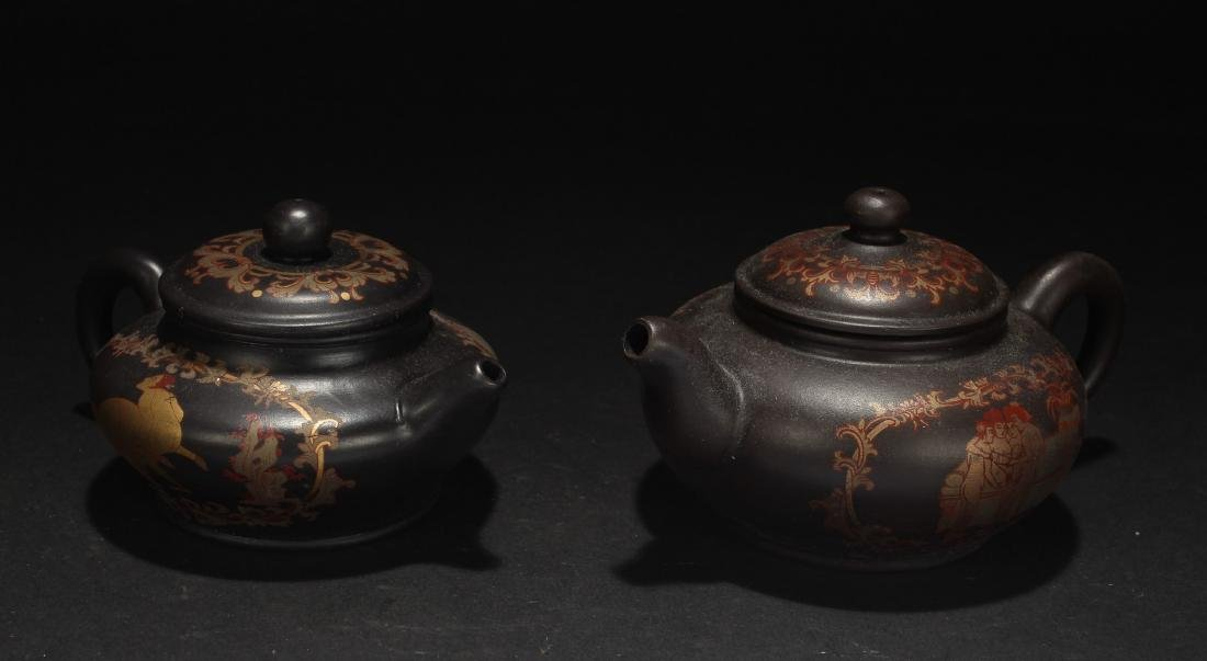 Two Chinese Estate Naked-art Tea Pots