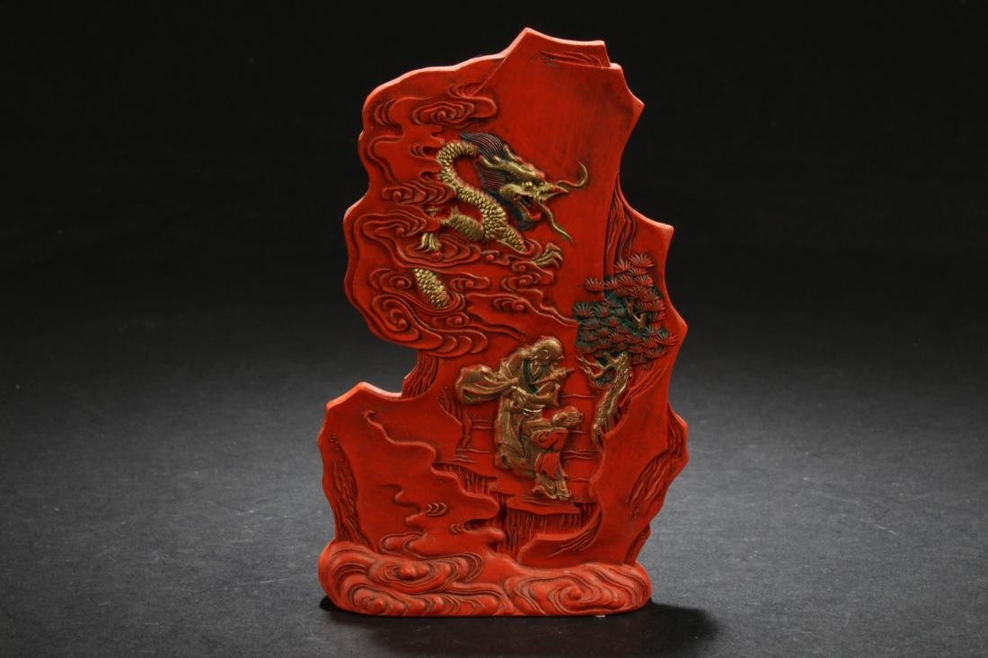 An Estate Chinese Story-telling Figure Display