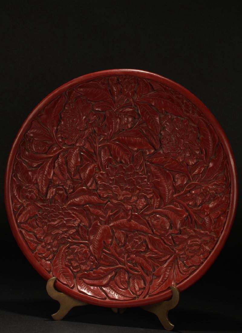 A Chinese Plant-fortune Estate Lacquer Plate - 2