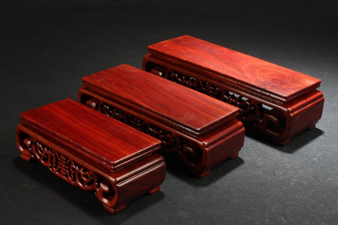 Chinese Square-based Estate Wooden Stand Display