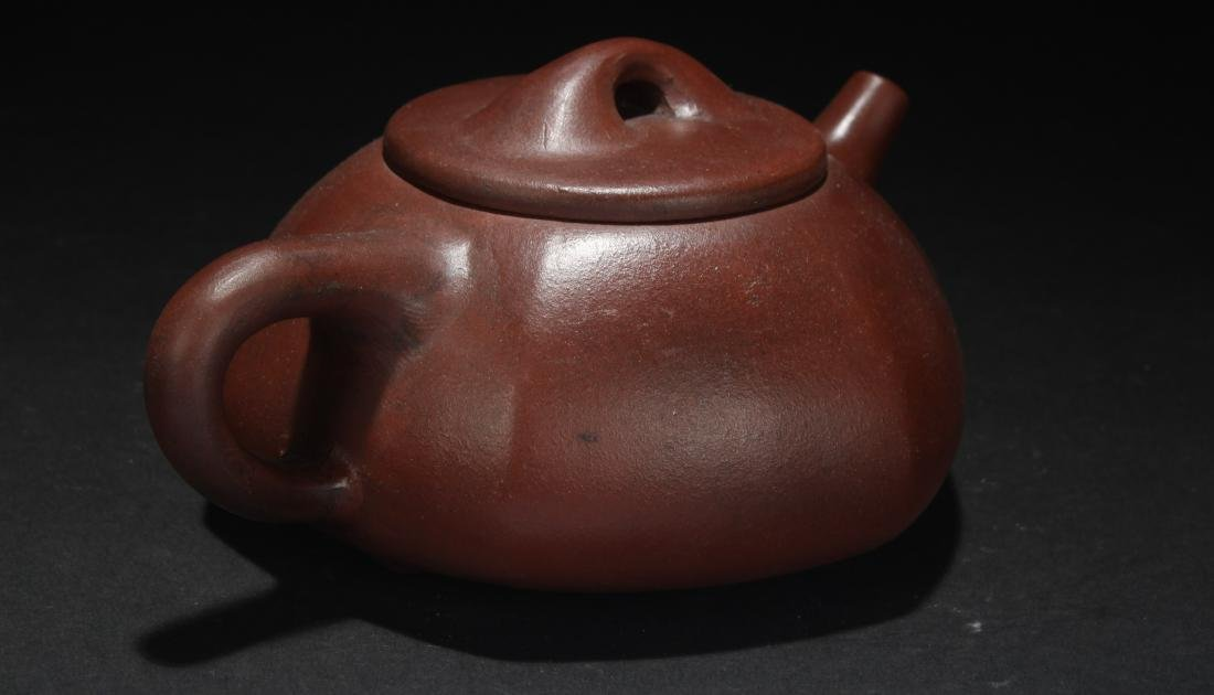 A Chinese Hexa-fortune Tea Pot Display - 2