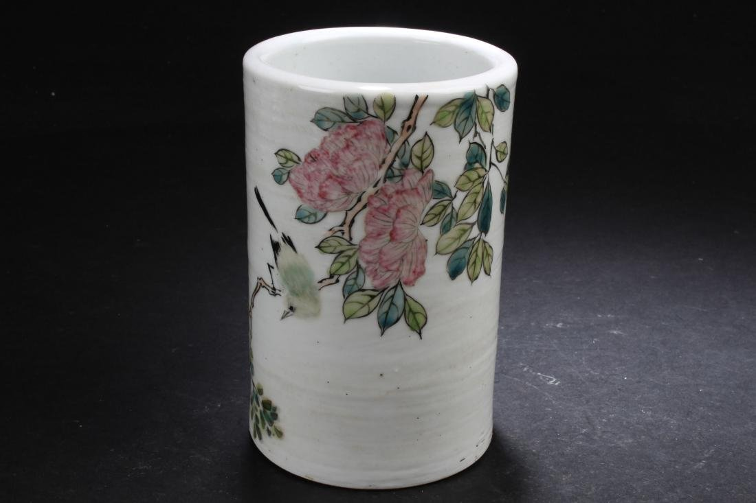 An Estate Chinese Fortune Porcelain Brush-pot