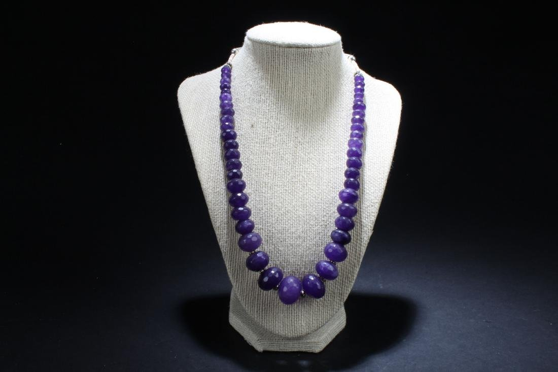 An Estate Purple Fortune Necklace