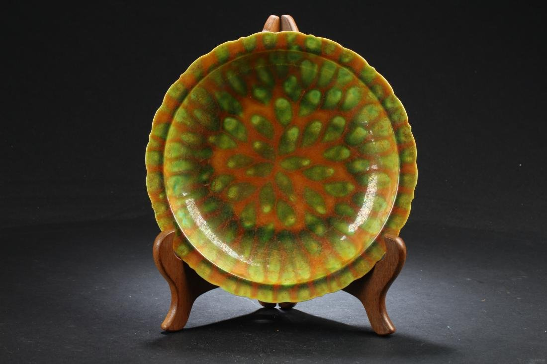A Chinese Color-changed Porcelain Fortune Plate