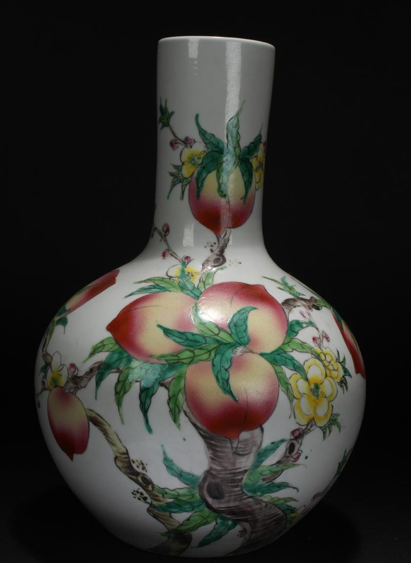 An Estate Chinese Peach-fortune Estate Porcelain Vase
