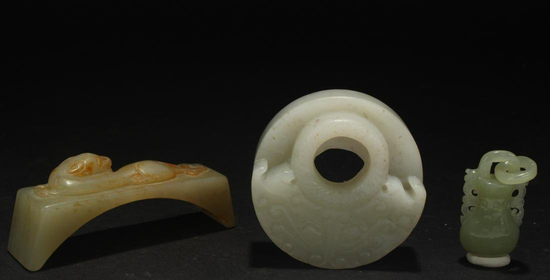 Group of Chinese Estate Jade Items