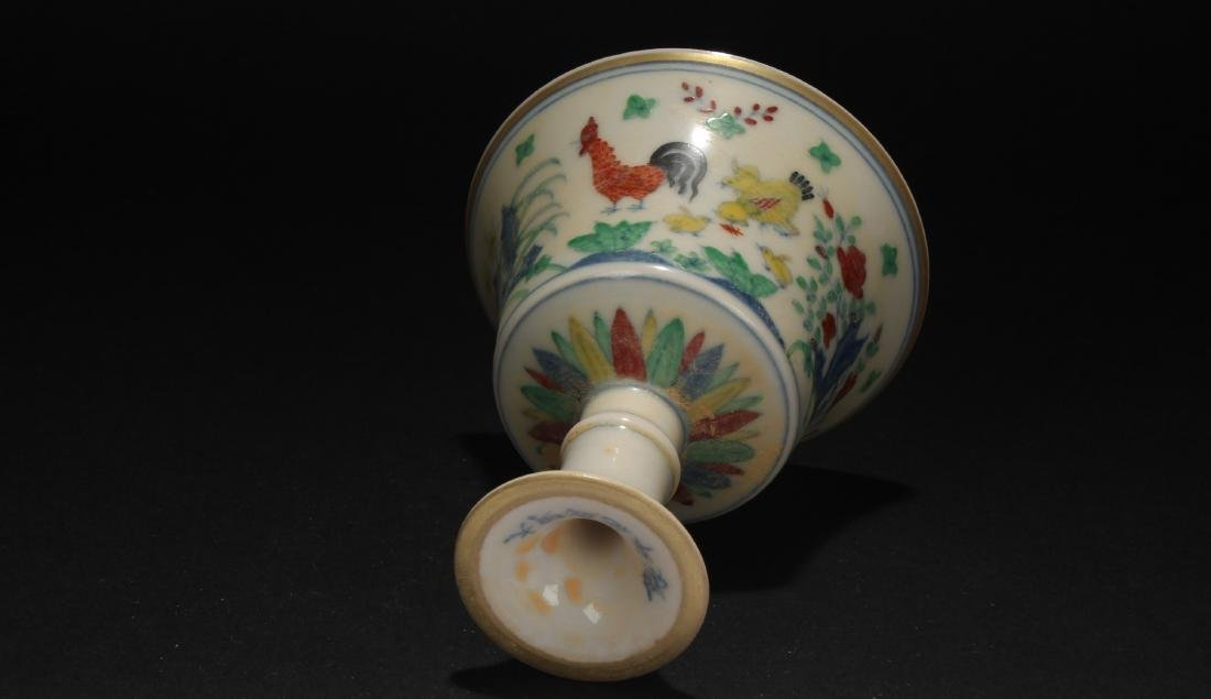 An Estate Chinese Porcelain Cup - 5