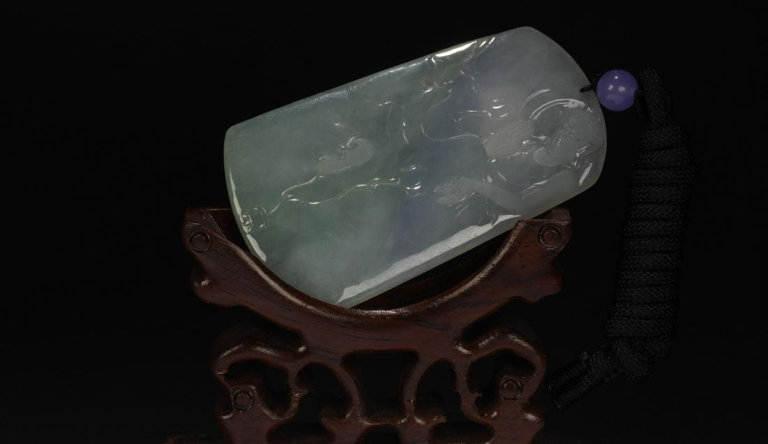 An Estate Chinese Buddha-fortune Jade Pendant