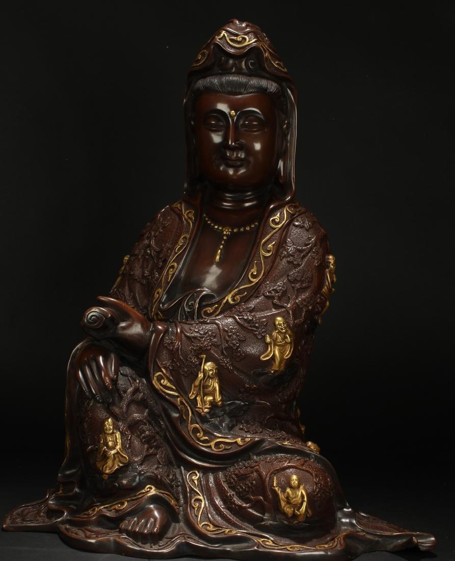 An Estate Chinese Guanyin Buddha-fortune Statue