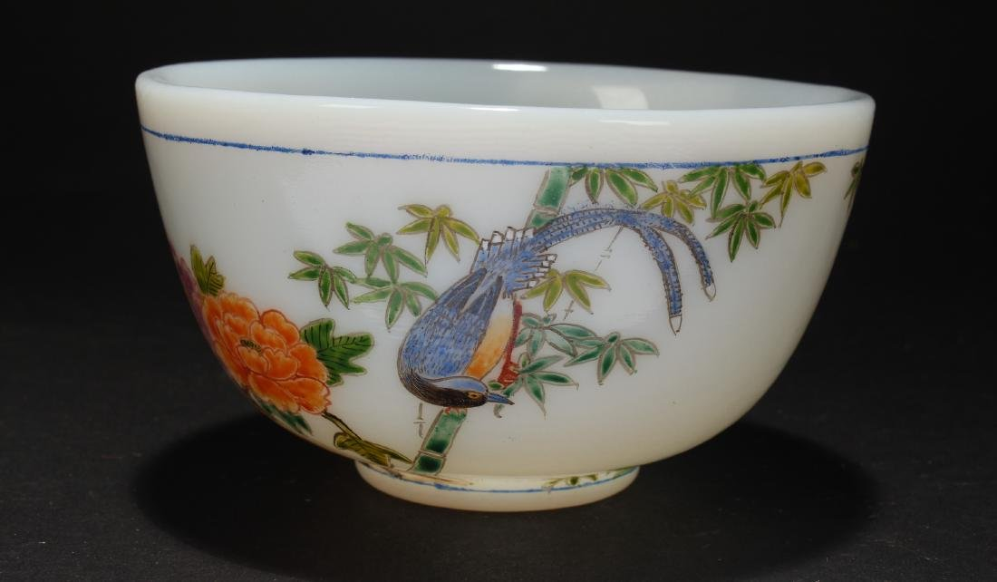 An Estate Overlay Chinese Bowl Display