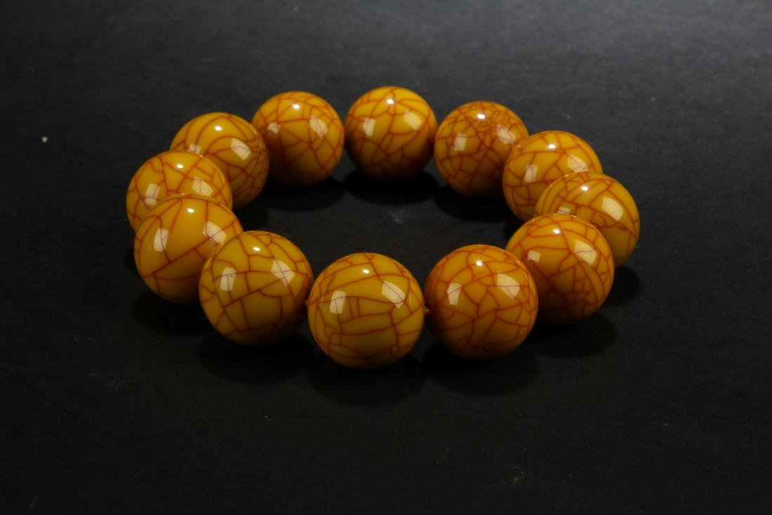 A Beaded Chinese Wooden Bracelet