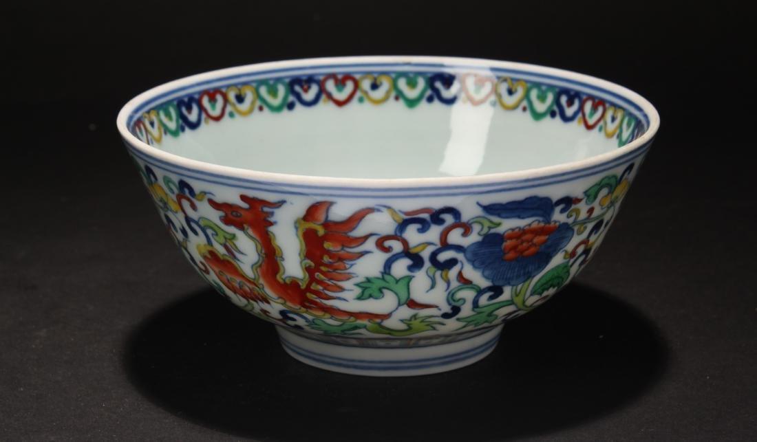 A Chinese Bat-framing Estate Porcelain Bowl