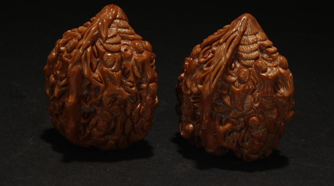 A Pair of Chinese Estate Walnuts Figure