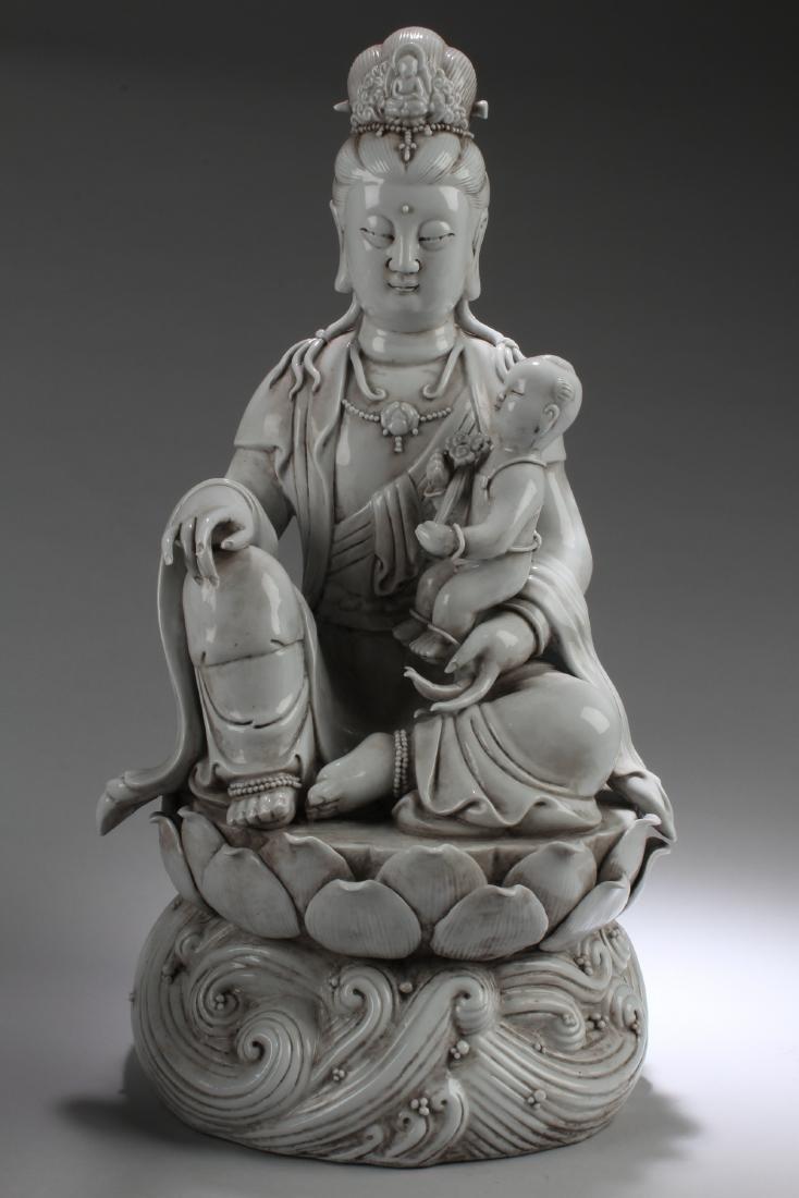 An Estate Old-jade Statue Figure Display